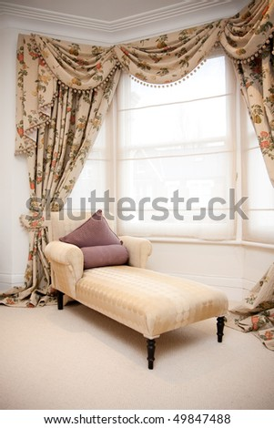 Chaise Lounge in classic bedroom