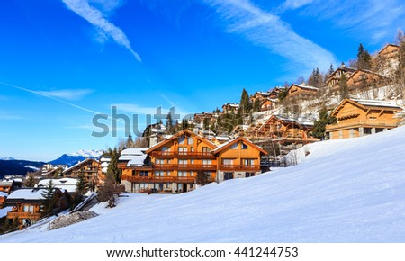 Chalet on the slopes of the valley Meribel. Ski Resort Meribel Village Center (1450 m). France
