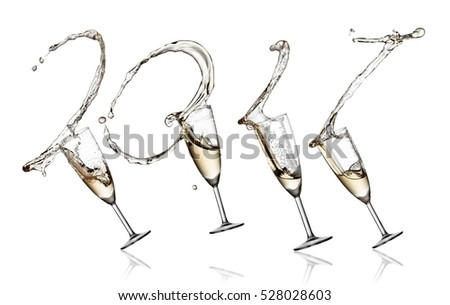 Champagne glasses splash 2017