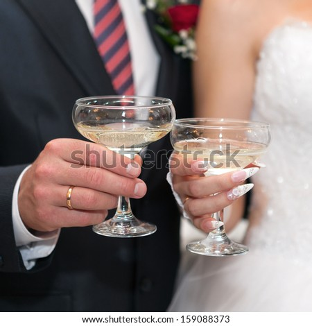 Champagne on wedding