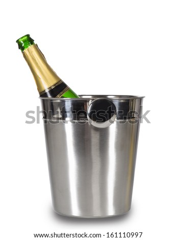 Champagne over white background. Celebration theme.