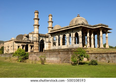 Champaner - Pavagadh Archaeological Park is a historical city in the state of Gujarat. Kevda Masjid mosque. (UNESCO)