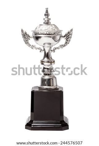 Champion cup isolated over white background