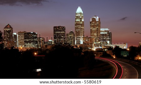 Charlotte NC Skyline - Editorial Use Only