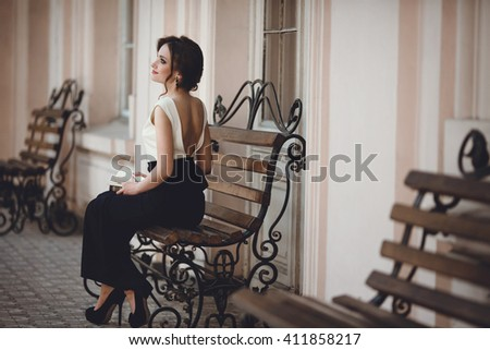 charming woman relaxing and enjoying a good time