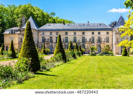 Chateau de Malmaison in the city of Rueil-Malmaison (not far from Paris). Chateau de Malmaison (architects Parcier and Fontaine) purchased by Josephine Bonaparte in 1799.