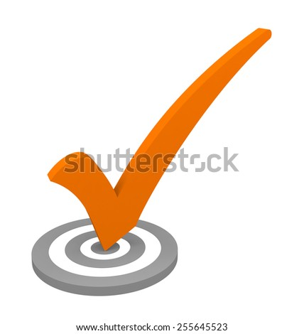 check mark isolated on white background