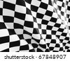 checked start  flag fine 3d image background - stock vector