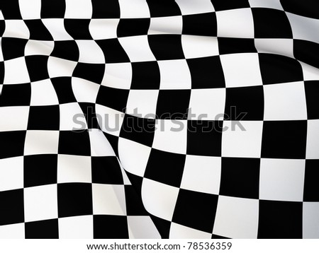 checkered flag / goal flag / visible fabric structure