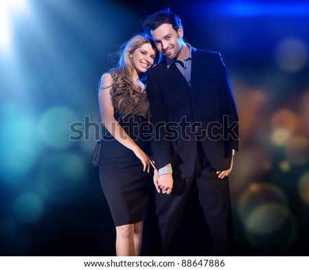 Cheerful couple posing