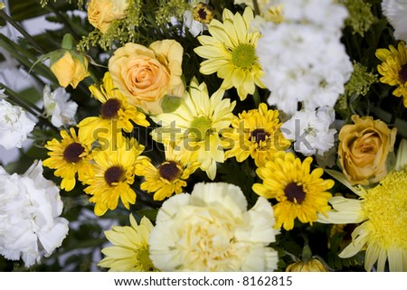 Cheerful yellow bouquet of flowers
