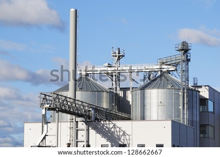 Chemical plant at an industrial site