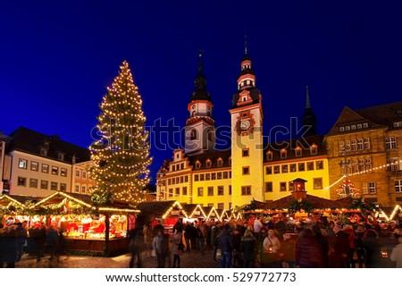 Chemnitz christmas market in Germany