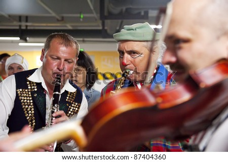 CHENGDU - MAY 29: Scottish folk musicians perform in the 3rd International Festival of the Intangible Cultural Heritage.May 29, 20011 in Chengdu, China.