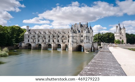 Chenonceaux, Loire Valley, France, Europe. Unesco heritage site. Built (1513-1521) as a pleasure palace during the Renaissance by several aristocratic women.