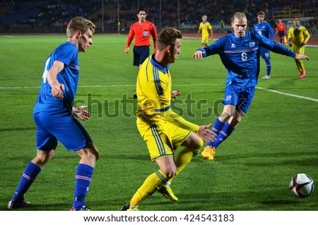 CHERKASSY, UKRAINE - OCT 08: Sindri Bjornsson