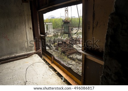 Chernobyl/Ukraine - 29 September 2016 - the unfinished and abandoned 5th block of the Chernobyl nuclear power plant on the 29th of September 2016 in Chernobyl, Ukraine