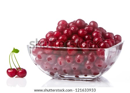 Cherries in a salad bowl 2