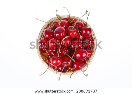 Cherry, taste delicious, close-up, white background