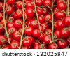 Cherry tomatoes at farmers market in Paris. Selective focus and shallow depth of field. - stock photo