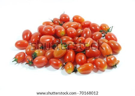 cherry tomatoes isolated on a white background
