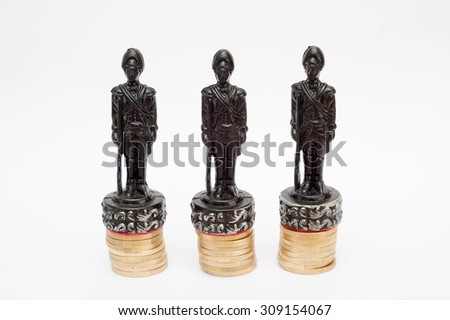 chess figure on the column of euro coin