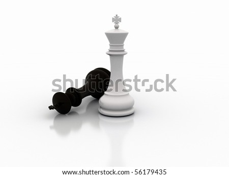 Chess king standing