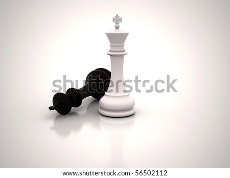 Chess king standing - Business concept success