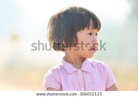 CHIANG MAI THAILAND- MAR 13 : An unidentified The Girl is looking for her mother on MARCH 13,2015 at Jamluang school Chiang mai Thailand