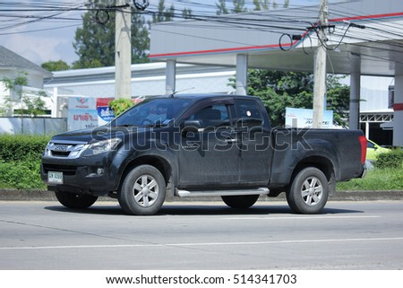 CHIANG MAI, THAILAND - OCTOBER 9  2016:   Private Pick up Truck, Isuzu D-max,dmax. Photo at road no 121 about 8 km from downtown Chiangmai, thailand.