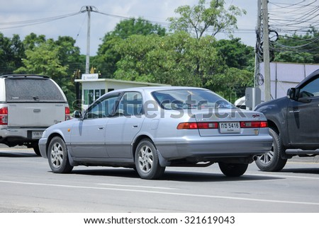 CHIANGMAI, THAILAND -AUGUST 21 2015: Private car toyota Camry. Photo at road no 121 about 8 km from downtown Chiangmai, thailand.