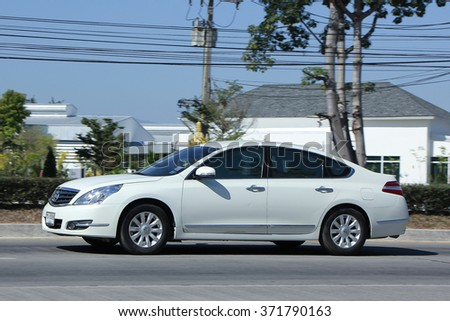 CHIANGMAI, THAILAND -DECEMBER 13 2015:   Private car, Nissan Teana. Photo at road no 121 about 8 km from downtown Chiangmai, thailand.