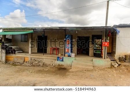 CHIAPAS, MEXICO - NOV 2, 2016: Typical of the One of the maya villages in Chiapas state of Mexico. Here live the real people of the maya origin