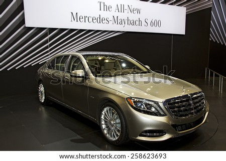 CHICAGO, IL - FEBRUARY 15: 2016 Mercedes-Benz S-Class Maybach at the annual International auto-show, February 15, 2015 in Chicago, IL