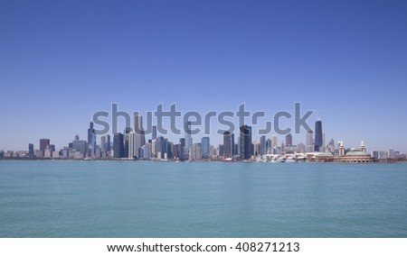 Chicago view from the lake