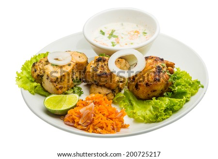 Chicken Tikka - traditional indian food