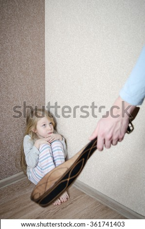 Child Abuse Abusive Parent Father Girl Stock Photo ...