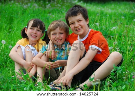 Children in meadow