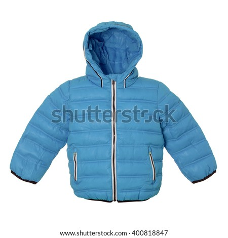 Children winter blue jacket