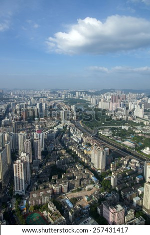 China Shenzhen city panorama