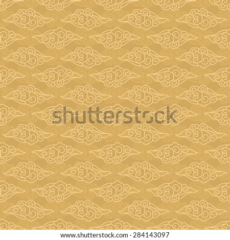 Chinese clouds seamless pattern traditional background
