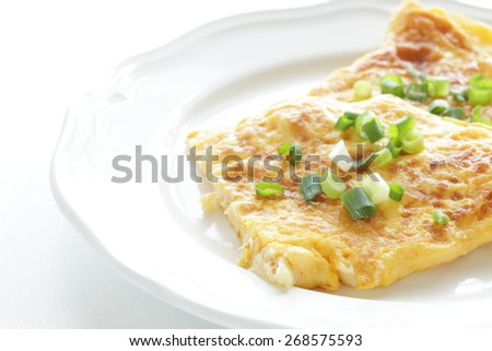 Chinese food, scallop omelet
