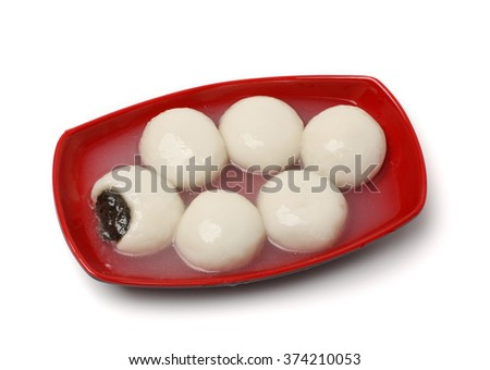 Chinese glutinous rice balls  with clipping path