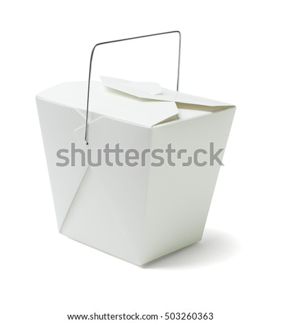 Chinese Restaurant Takeaway Food Container on White Background