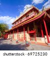 chinese temple in Royal summer residence Bang Pa In, Thailand - stock photo