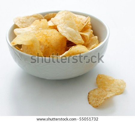 Chips in a bowl