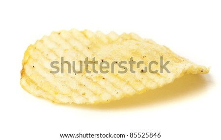 chips stack isolated on a white background