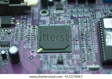 chipset on the motherboard.