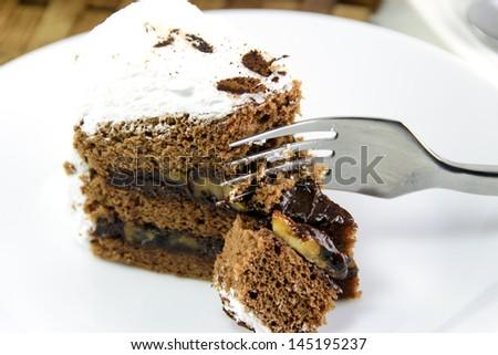 Coconut cream cake Stock Photos, Illustrations, and Vector Art