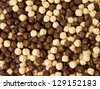 chocolate cereals isolated on a white background - stock photo